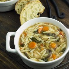 Spinach Chicken Orzo Soup | Cooking on the Front Burner #soup