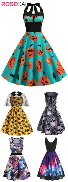 Free shipping over $45, up to 75% off, Rosegal plus size Halloween costume dress vintage Halloween dresses ideas | #rosegal #Halloweencostume #womenfashion