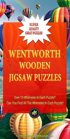 Love these Wentworth wooden puzzles for adults. If you're looking for an exceptionally high quality wooden jigsaw puzzle that has some fun whimsies in it then these wooden jigsaw puzzles will give you an enjoyable challenge. Difficult Jigsaw Puzzles, Wooden Jigsaw Puzzles, Hobby Ideas, Have Some Fun, Challenge, Magic, Fantasy, Gifts, Presents