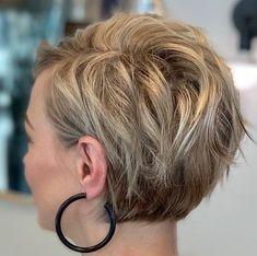 Pixie Haircut For Thick Hair, Haircuts For Fine Hair, Short Bob Hairstyles, Edgy Short Haircuts, Short Grey Hair, Short Hair With Layers, Short Hair Cuts For Women, Pixies, Great Hair