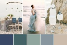 Inspired by the Sea Wedding Colour Inspiration Sea Glass Wedding, Beach Wedding Reception, Beach Wedding Decorations, Wedding Themes, Sea Wedding Theme, Coastal Wedding Ideas, Wedding Receptions, Wedding Tips, Wedding Favors