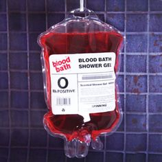 "The ""Bloodiest"" Shower Gel. There will be ""blood"" everywhere! Great for scary pranks! Functional shower gel in red. Bathe like your favorite vampire with Blood Bath Shower Gel! Please allow weeks for delivery. Gadgets And Gizmos, Cool Gadgets, Vampires, Gothic Bathroom, Bath Gel, Shower Gel, Bath Shower, Clean Shower, Packaging"