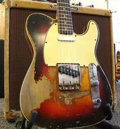 One day I will own a Fender Telecaster, and it will look just like this one (well. maybe it'll be in a better condition) Fender Stratocaster, Vintage Telecaster, Vintage Guitars, Telecaster Custom, Music Guitar, Guitar Amp, Cool Guitar, Gibson Guitars, Fender Guitars