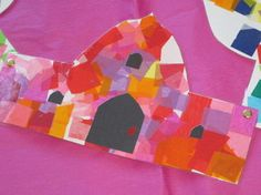 tissue mosaics of Mosque or other islamic theme...can be strung together to create a banner