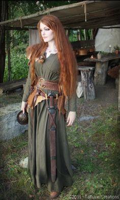 jeune femme celte .