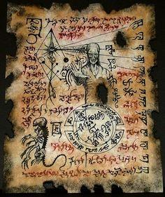 """Dho Hna Formula: """"Tibi, Magnum Innominandum, signa stellarum nigrarum et bufaniformis Sadoquae sigillum""""...:"""