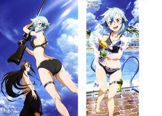 Kirito (Kazuto Kirigaya)  Sinon (Shino Asada) ღ Sword Art Online #Summer