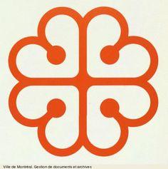 City of Montreal logo, Georges Huel 1981 Tatoo Design, Design Art, Logo Design, Graphic Design, Destination Branding, City Branding, Quebec Montreal, Montreal Ville, City Logo