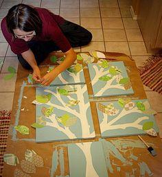 DIY nursery tree