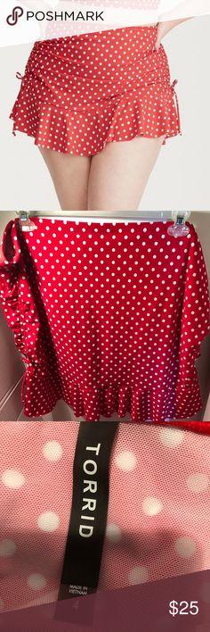 ab838634614 Torrid Red Polka Dot Swim Skirt Just in case the white polka dot print on  this