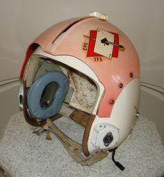 Vietnam Helmet Art | Rare Gentex HGU-2/P Pilot Flight Helmet with Original Sticker 563 TFS