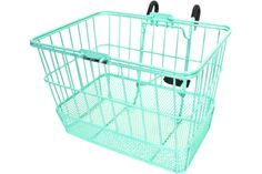 Sunlite Mint Green Deluxe Lift Off Wire and Mesh Basket   Chubby's Cruisers