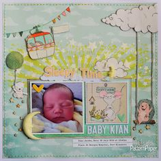 The whimsical Travel Buddies collection is perfect for babies. I hope Sleepy Time has inspired you to use this range to scrap your memories! Kids Scrapbook, Scrapbook Paper, Scrapbooking, Scrapbook Layouts, Christmas Mini Albums, Christmas Minis, St Georges Hospital, Star Stencil, Gypsy Life