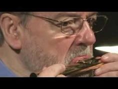 """Sir James Galway Masterclass - Embouchure - YouTube.  Start with bottom lip over top (corners down, not smiling), then """"Pooh"""""""