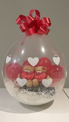 Gift In A Balloon......bears and chocolate