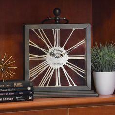 The most distinguished clocks are not round. Fiberglass Planters, Candle Holders, Accent Pieces, Decorative Accessories, Accent Decor, Shelf Decor, Glassware, Home Decor, Mantel Clock