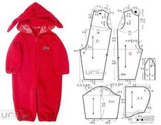 hooded one piece outfit Baby Girl Dress Patterns, Baby Clothes Patterns, Baby Patterns, Clothing Patterns, Baby Outfits, Kids Outfits, Sewing Baby Clothes, Diy Clothes, Baby Sewing Projects