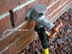 Fix and external dripping tap as soon as possible to avoid water damage through the outside wall.