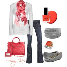 """Coral Accessories"" by amy-kerr on Polyvore"