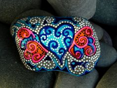 Firefly Winged Heart / Painted Rock / Sandi Pike Foundas / Cape Cod. $45.00, via Etsy.