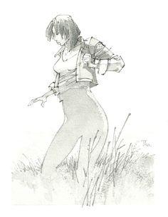 Girl - August Tharrats Comic Art