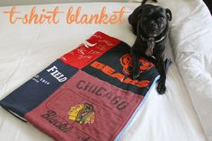 simple tshirt blanket - this might be the one to follow!