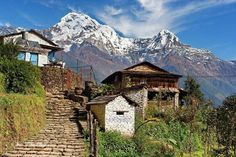 Nepal is a landlocked country situated in between India and China. With a population of around 30 million, Nepal still remains one of the poorest countries. Landscape Photography, Nature Photography, Nepal Trekking, Some Beautiful Pictures, Mountain Village, Watercolor Landscape, Beautiful Landscapes, Scenery, Wayfarer
