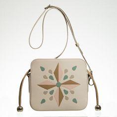 Leather marquetry drawstring handbag Marquetry, Leather Handbags, Unique, Color, Leather Totes, Colour, Leather Bags, Colors