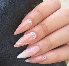 Pointy nails classy nail designs, nail treatment, almond nails, nails on fleek, Classy Nails, Stylish Nails, Trendy Nails, Gorgeous Nails, Love Nails, Fun Nails, Gorgeous Lady, Classy Nail Designs, Nail Art Designs
