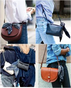 Looks com bandanas nas bolsas para se inspirar e arrasar Looks with bandanas on the bags to get inspired and rock