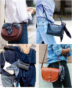 Looks com bandanas nas bolsas para se inspirar e arrasar Looks with bandanas on the bags to get inspired and rock Bandana Outfit, Bandana Scarf, Bandana Styles, Scarf Styles, Diy Fashion, Ideias Fashion, Womens Fashion, Scarf On Bag, Mode Blog