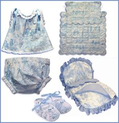 Ropita de hilo, algodón y piqué para bebés. Bordados para el hogar. LaCuca - Ropita de bebe - Para bebés - Charhadas.com