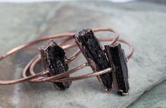 Stone Bangle Electroformed Jewelry Stacking by CoastalAlchemy