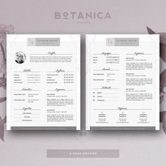 Stylish Resume Template 4 MS Word • Available here → https://creativemarket.com/BotanicaPaperie/788251-Stylish-Resume-Template-4-MS-Word?u=pxcr