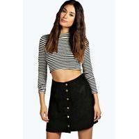 Buy Button Front A Line Suedette Mini Skirt black : boohoo : MPN 14 : A Line Skirts, Mini Skirts, Bohemian Maxi Skirt, Button Skirt, Suede Skirt, Boho Look, Maxis, My Wardrobe, Winter Wardrobe
