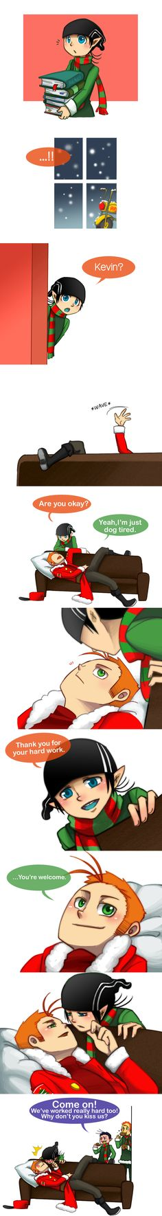 KevEdd After Xmas Kiss by aulauly7 on DeviantArt // Ed Edd n Eddy cute yaoi