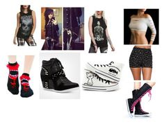 Today I have something for you women created. I love you all women. Emo Fashion, Fashion Women, Emo Style, Women's Clothing, Female, Clothes For Women, Woman, Polyvore, Women's Work Fashion