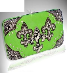 Lime Green Western Style Triple Fleur de lis with Diamonds Wallet Handbags, Bling & More!,http://www.amazon.com/dp/B00D1VN9BC/ref=cm_sw_r_pi_dp_3ylPrbBAC40B49A9