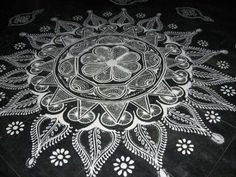Pongal Rangoli With Dots