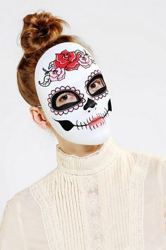 Day Of The Dead Mask. Might need this for halloween