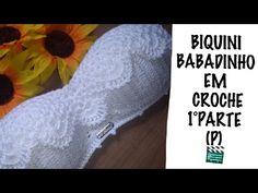 Biquini em crochê (P) babadinho 1°parte - YouTube Crochet Bikini Pattern, Crochet Crop Top, Crochet Diagram, Crochet Blouse, Knitting Videos, Arm Knitting, Crochet Videos, Baby Afghan Crochet, Crochet Art