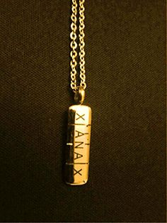 Xanax Pill shape Stainless steel necklace Gold by Hip11 on Etsy  https://www.facebook.com/xanaxnecklace/