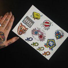 Harry Potter Tattoo Flash A5