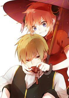 OkiKagu Render (Gintama) by KaoriLucis on DeviantArt Anime Couples Drawings, Anime Couples Manga, Couple Drawings, Anime Guys, Manga Anime, Anime Art, Cute Anime Coupes, Okikagu, Fairy Tail Ships