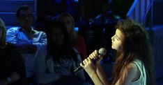 "Angelina Jordan sings ""Fly Me To The Moon"" perfectly on a talk show New Earbuds, Angelina Jordan, The Voice, Jordans, Singing, The Incredibles, Moon, Concert, The Moon"