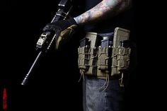 HSGI thigh rig // Id have to wear mine on the right Leg as I shoot rifles like a Lefty. Pistol mags would be used as a knife, multi-tool and flashlight carrier