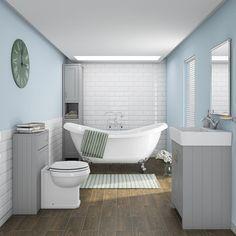Chatsworth Traditional Grey Vanity - 560mm Wide  In Bathroom Image