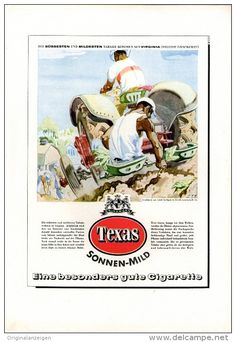 Original-Werbung/Inserat/ Anzeige 1952 - 1/1-SEITE - TEXAS ZIGARETTEN  - ca. 250 X 160 mm