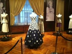 Some of the famous dresses worn by Eva Peron, located in the Eva Peron museum in Argentina.