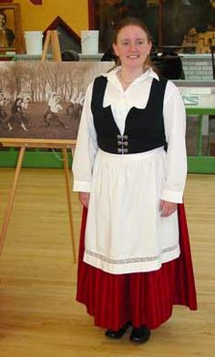 Image Of Freja Borsting In Danish Traditional Dress